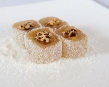 Лукум ролл классический нарезанный с грецким орехом Турция от 1,8 кг